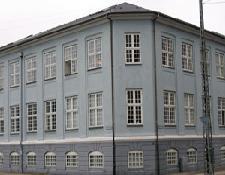 Lejligheden Aufsen ligger i en hjørnebygning i København